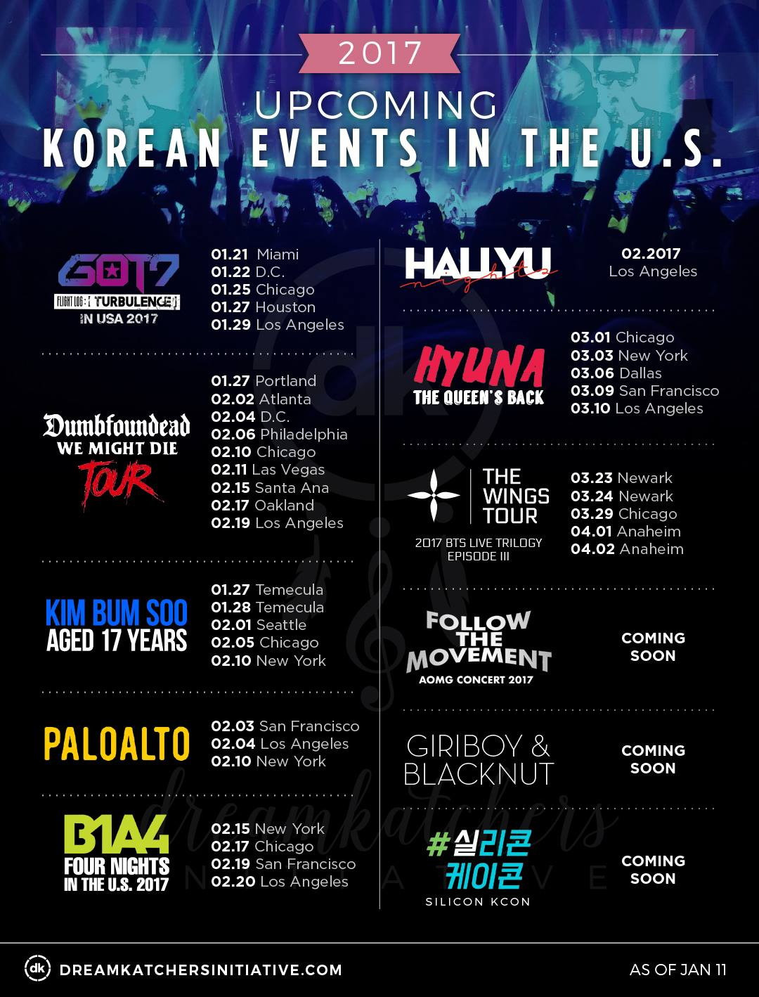 Upcoming Korean Music Events in the USA