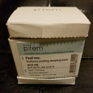 beautiFRIDAY: Make P:rem Peel me. Radiance Peeling Sleeping Pack