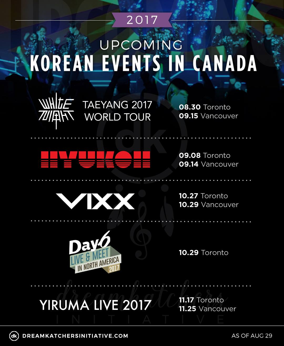 Dreamkatchers Initiative | Upcoming Canada kpop Events 2017