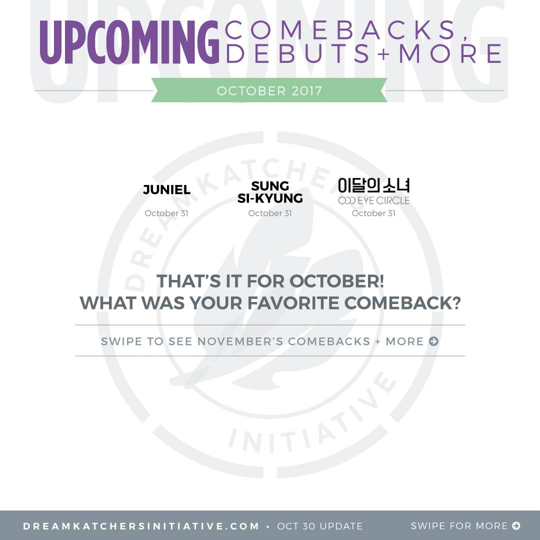 Dreamkatchers Initiative | Comeback chart 2017