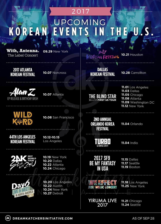 Dreamkatchers Initiative | Upcoming USA kpop Events 2017