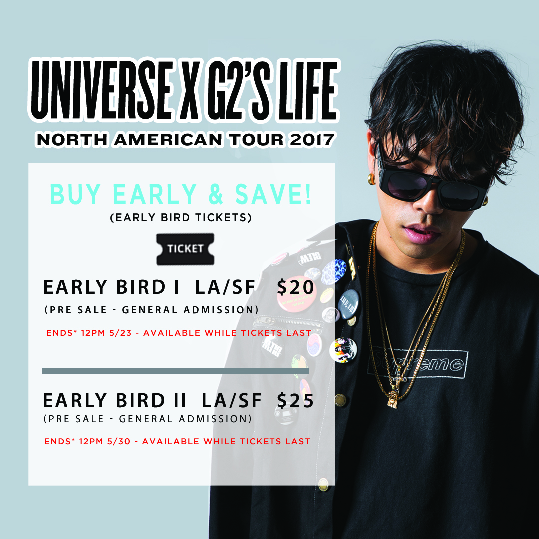 K-Hip Hop Fest Part II and UNIVERSE x G2'S Life North American Tour