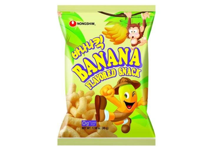 Snack Sunday: NONGSHIM Banana Kick Banana Snack